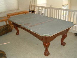 Proper billiard table moving process in Wadsworth Ohio